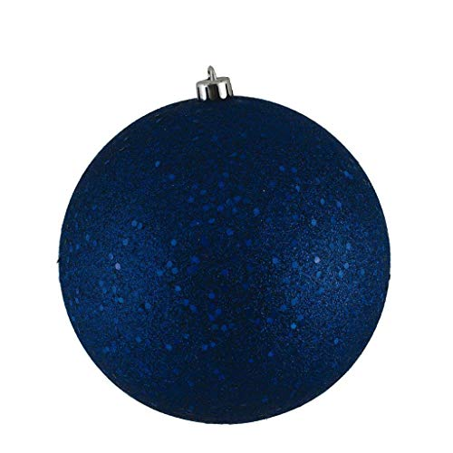 Vickerman 572603-4.75″ Sea Blue Sequin Ball Christmas Tree Ornament (4 pack) (N591262DQ)