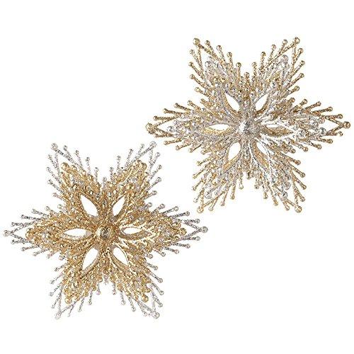 RAZ Imports 4 Inch Starburst Ornaments – Set of 2