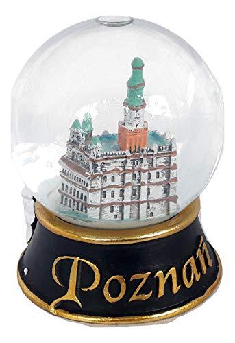 Souvenir New Snowdome Poland Polish Snowglobe Poznan Town Hall mechanized Goats S-105mm