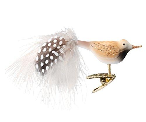 Inge-Glas Clip-On Bird Flynn 1-065-17 German Glass Christmas Ornament