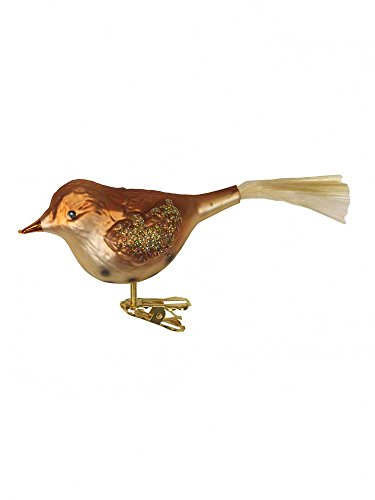 Wood Thrush Inge Glas Birds Clip Ornaments [109006]