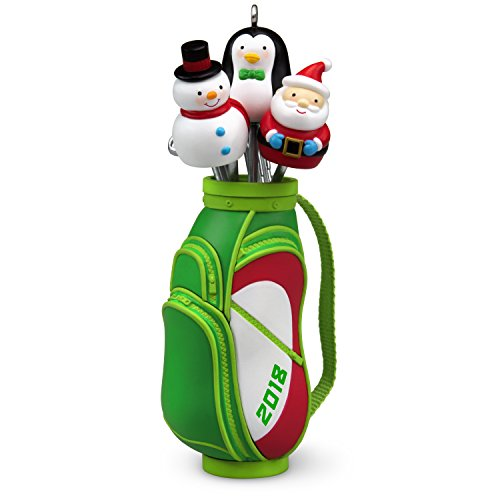 Hallmark Keepsake Christmas Ornament 2018 Year Dated, Golf Ho-Ho-Hole in One