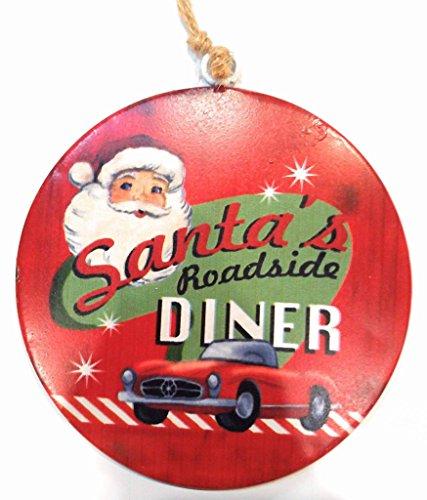 Raz Imports Holiday Christmas hanging disc Ornament