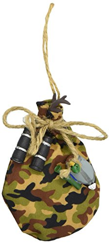 Department 56 Forest Favorites Hunting Duffle Bag Hanging Ornament