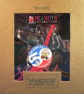 Waterford Crystal PEANUTS 50TH ANNIVERSARY Collector's Ornament (SNOOPY)
