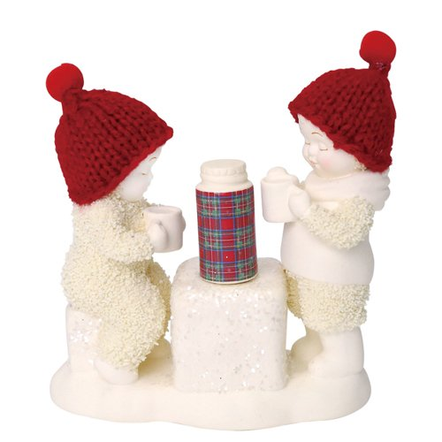 "Department 56 Snowbabies ""Cold Days, Warm Cocoa"" Porcelain Figurine, 4″"