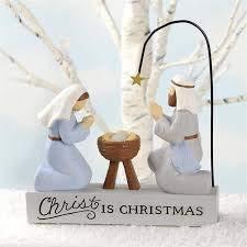 Blossom Bucket 188-11995 Christ is Christmas Nativity Figurine