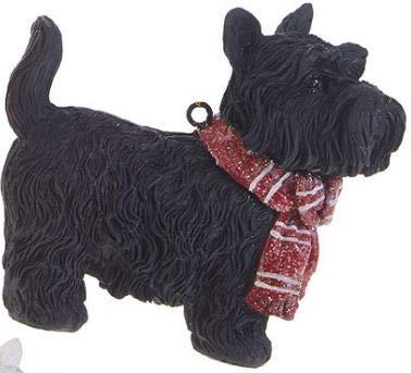 RAZ Imports 3.5″ Christmas Scottie or Westie Ornament 3811300 (Black)