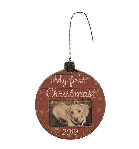 Primitives by Kathy My First Christmas 2019 Animal Paw Print Pet Ornament