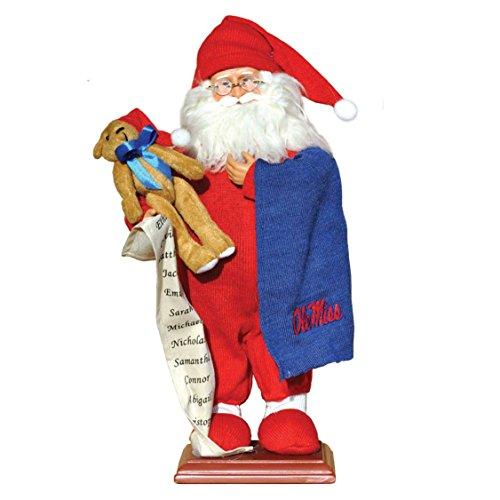 Santa's Workshop Mississippi Pajama Santa Figurine, 15″