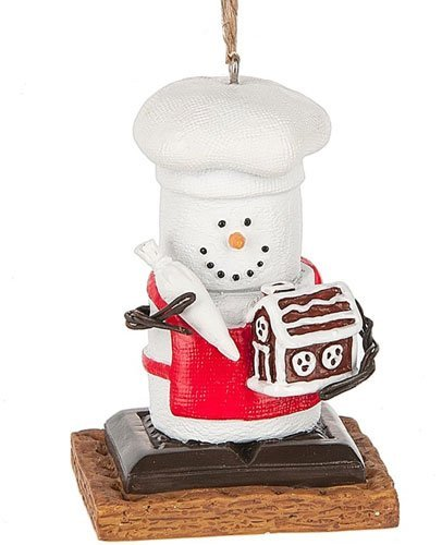 S'mores Original 2017 Chef Building a Gingerbread House Ornament