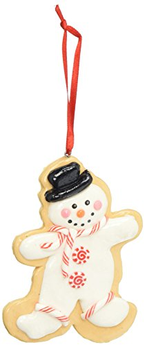 Department 56 Mrs. Claus Sweet Shoppe Cookie Cutter Snowman Hanging Ornament