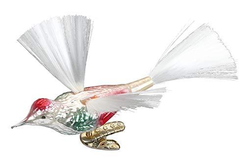 Inge-Glas High Flyer, Clip-On Bird 10113S018 German Blown Glass Christmas Ornament