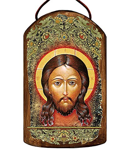 Jesus Holy Face Wooden Icon – Plaque Ornament by G. DeBrekht # 87018