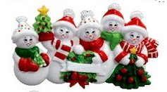 Snowman Family Christmas Ornament (2, 3, 4, 5, 6, 7, 8, 9, 10) (Family of Five (5))