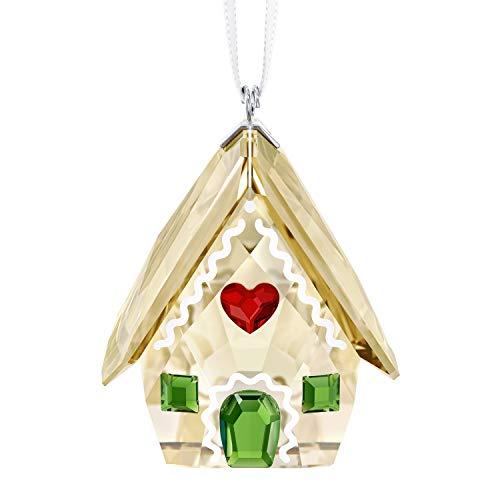 Swarovski Crystal Gingerbread House Ornament–3.9x 3.1x 2.8cm