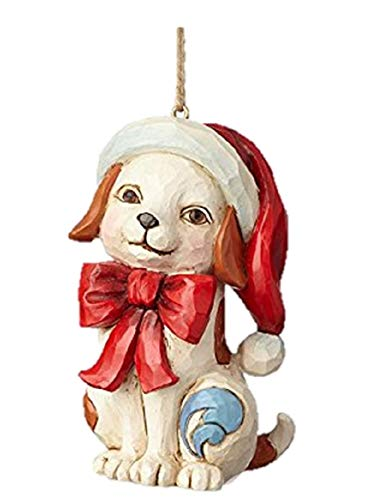 Enesco-Gift 4058829 Puppy with Bow Ornament, Multicolor