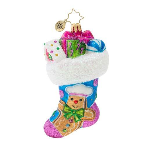 Christopher Radko Something Sweet Stocking Christmas Ornament, Multicolor