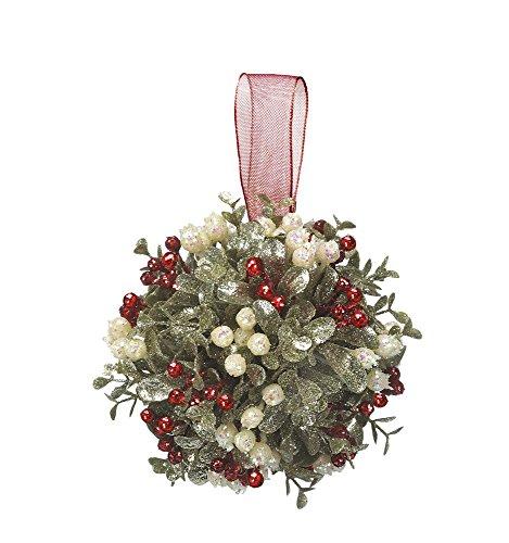 Kissing Krystals 5″ Mistletoe Ornament – Holly Kissed