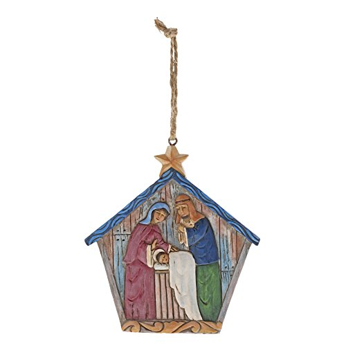 Enesco Jim Shore Folklore Nativity Hanging Ornament, 3.75″, Multicolor