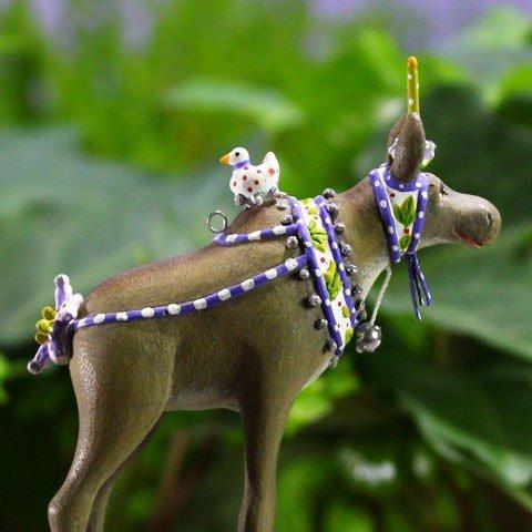 Patience Brewster Mini Maude Moose Christmas Figural Ornament #31018