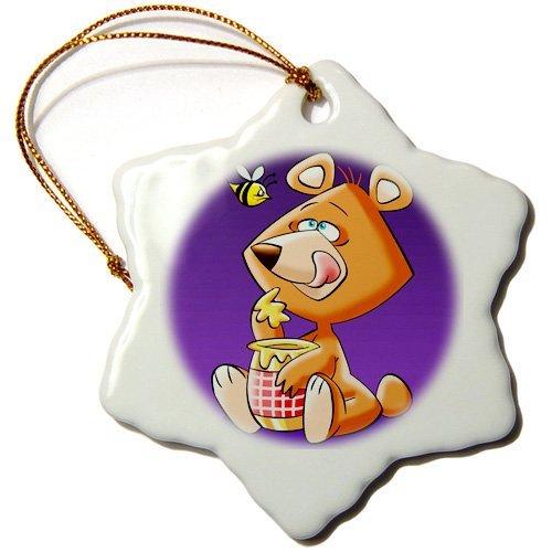 Christmas Ornament Edmond Hogge Jr; Cartoons – I Love Teddy Bears – Snowflake Porcelain Ornament