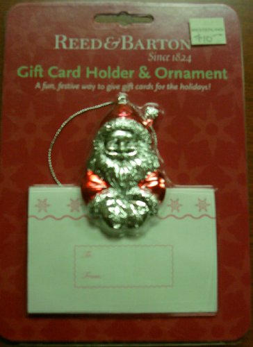 Reed & Barton Santa Gift Card Holder & Ornament, New