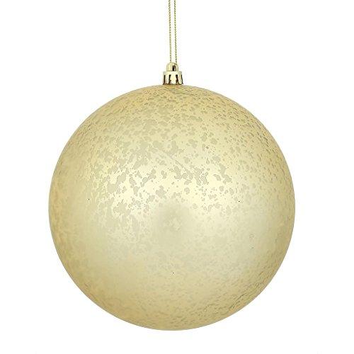 Vickerman 478813-4″ Champagne Matte Mercury Ball Christmas Tree Ornament (6 Pack) (N176138)