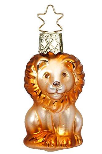 Inge-Glas Golden King Mini-Lion 10089S018 German Blown Glass Christmas Ornament