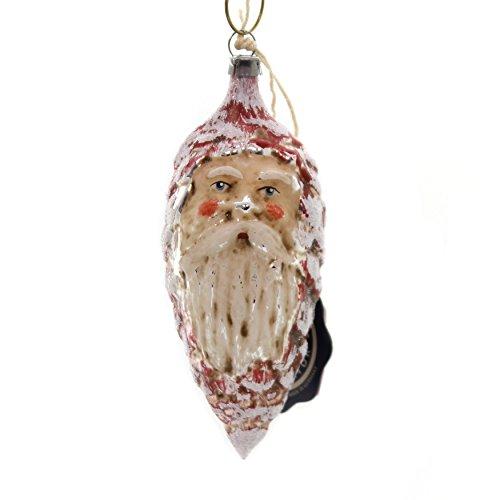 Marolin Pinecone w/FACE Glass Ornament Feather Tree Germany 2011005
