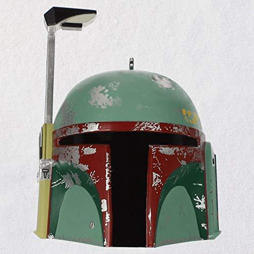 Hallmark Keepsake Christmas 2019 Year Dated Star Wars Boba Fett Helmet Ornament with Sound,