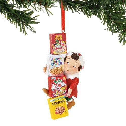 Department 56 General Mills Cereals Santa's Gifts, 4″ Hanging Ornament, Multicolor