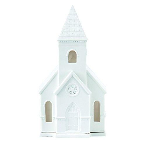 Wedgwood 2018 Holiday Decorations Church Lithophane, 6.3″, White