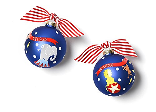 Coton Colors Circus Glass Ornament