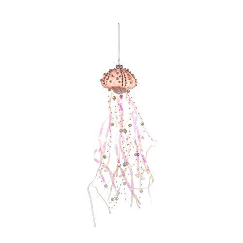 Beachcombers Coastal Life Decorative Ocean Ornament with S-Hook (Pink Jellyfish, B21734)