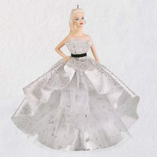 Hallmark Keepsake Christmas Ornament 2019 Year Dated Barbie 60th Anniversary Porcelain,