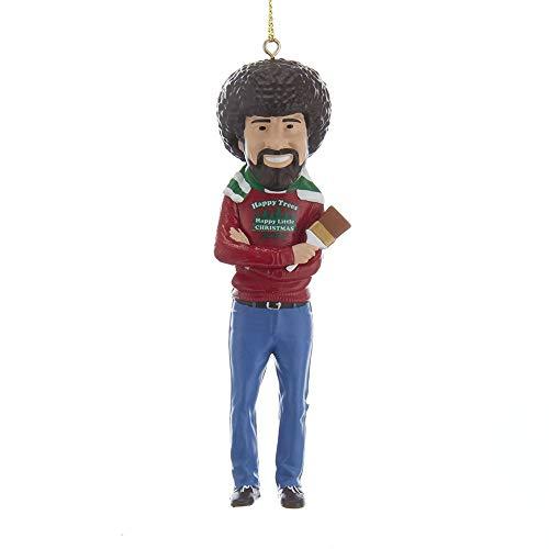 """Kurt Adler Bob Ross """"Happy Little Christmas"""" Figural Ornament"""