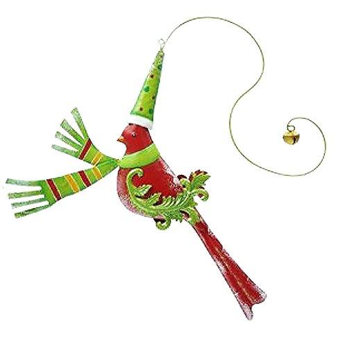 Mark Roberts Christmas Decor – Festive Bird Hanging Ornament – Red