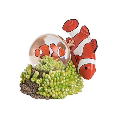 Beachcombers Resin Clown Fish Waterball Figurine