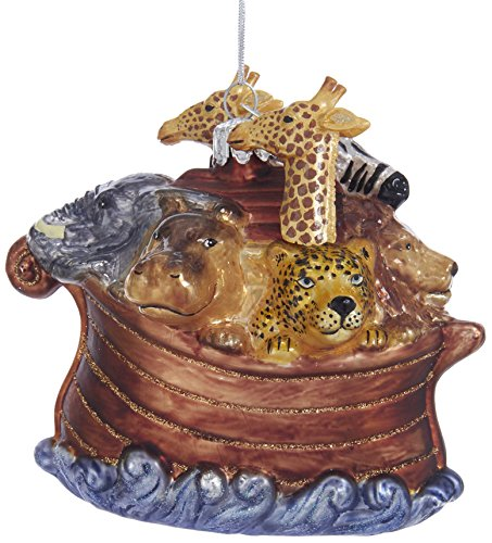 Kurt Adler Kurt S. Adler Noble Gems Noah's Ark Glass Ornament