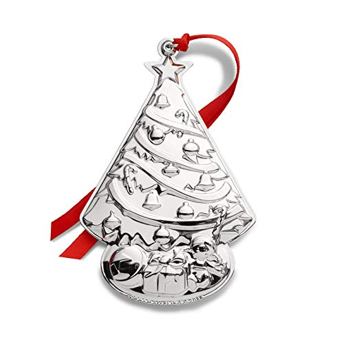 Gorham 2019 Sterling Christmas Tree Ornament-3rd Edition Holiday Ornament, Metal