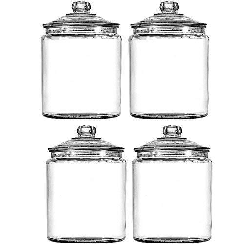 Anchor Hocking 102806 Heritage Hill Storage Jar 1 gallon, 4-Pack