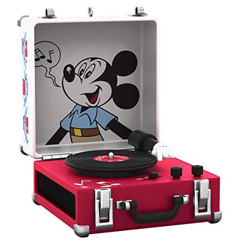 Hallmark Keepsake Christmas Ornament 2019 Year Dated Disney Mickey Mouse Record Player Musical (Plays Jingle Bells),