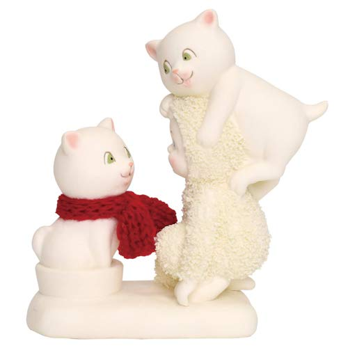 """Department 56 Snowbabies """"The Trouble with Cats"""" Porcelain Figurine, 4.5″"""