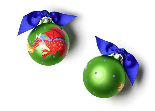 Coton Colors Dragon Glass Ornament