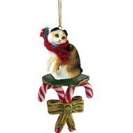 Conversation Concepts Tortoise & White Scottish Fold Candy Cane Ornament