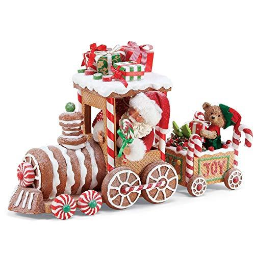 Department 56 Possible Dream Santas Christmas Traditions Gingerbread Train Figurine, 10.5″, Multicolor