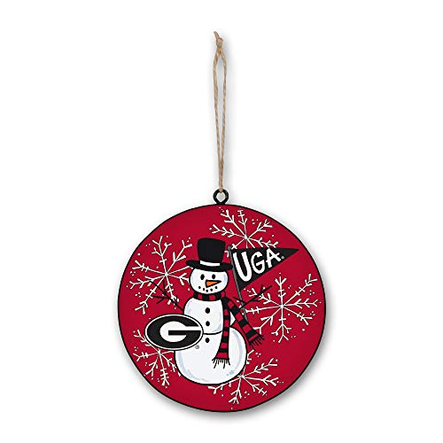Magnolia Lane UGA Bulldogs Snowman Metal Ornament