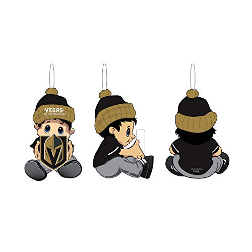 Team Sports America NHL Las Vegas Golden Knights Remarkable Adorable Lil Fan Christmas Ornament – 2″ Long x 2″ Wide x 3″ High