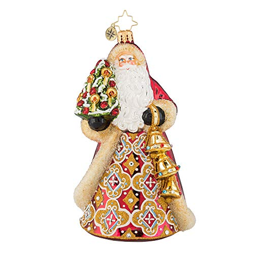 Christopher Radko Jingle for All to Hear Christmas Ornament, Gold, Red